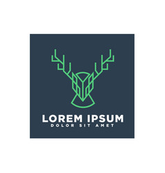 deer line art concept for business logo template vector image