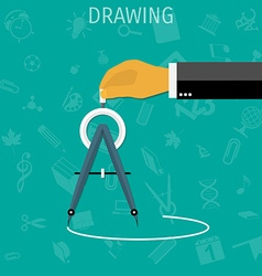 Drawing divider vector