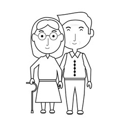 eldery couple icon vector image