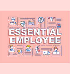 Essential employee word concepts banner vector