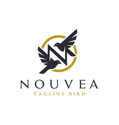 fashion business inspiration logo with letter n vector image