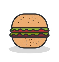 Fast food burger vector