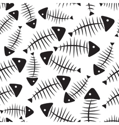 Fish Bone Seamless Pattern Background vector image