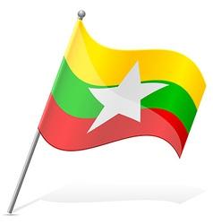 Flag of myanmar vector