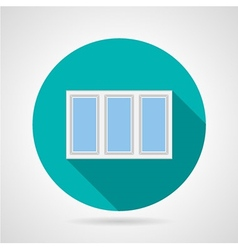Flat icon for plastic window vector image
