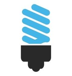 Fluorescent Bulb Flat Pictogram vector image