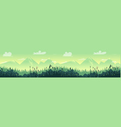 forest nature landscape panorama vector image