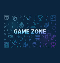 Game zone colored outline horizontal vector
