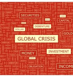 GLOBAL CRISIS vector image