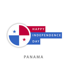 Happy panama independence day template design vector