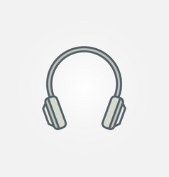 headphone flat isolated modern icon vector image