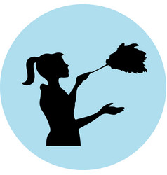 Home cleaning related isolated on backgroun vector