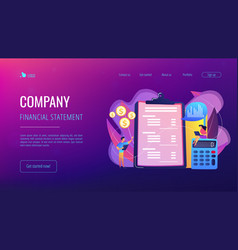 income statement concept landing page vector image
