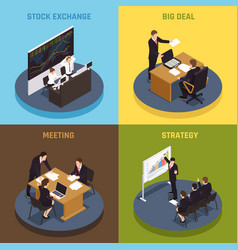 investment funding isometric concept vector image