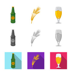 isolated object of pub and bar symbol collection vector image