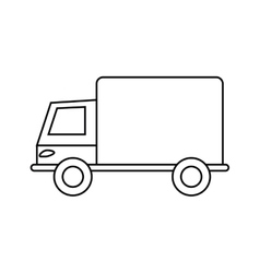 Isolated truck silhouette design vector