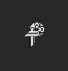 Letter p logo creative modern monogram many vector