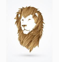lion head leo face vector image