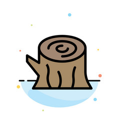 Log wood wooden spring abstract flat color icon vector