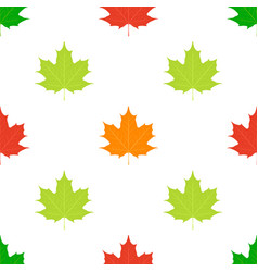 Maple leaves seamless pattern flat style vector