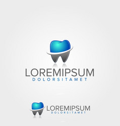 medical dental logo template vector image