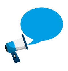 Megaphone with bubble callout box vector
