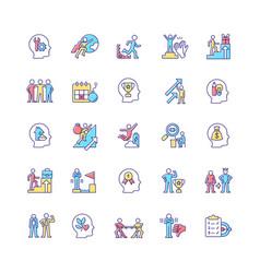 Motivation rgb color icons set vector