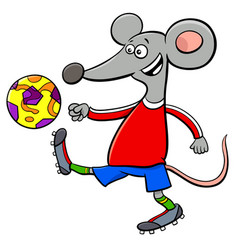 mouse football player cartoon character vector image