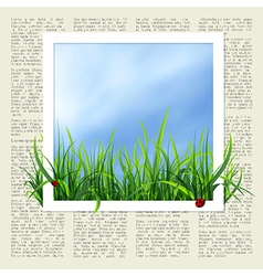 Newspaper with grass vector