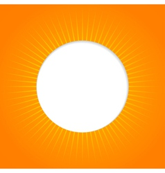 Orange abstract background with sun vector