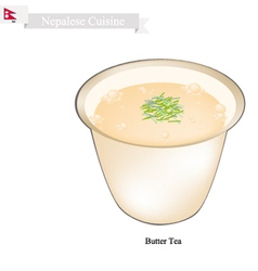 Po Cha or Nepalese Butter Milk with Salted Flavor vector image