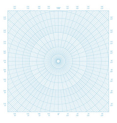 Polar coordinate circular grid graph paper vector
