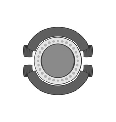 Round decorative label icon monochrome style vector