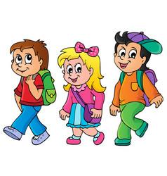 School kids theme image 3 vector