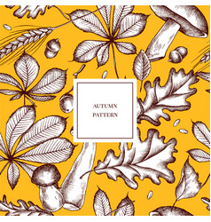 Seamless pattern of autumn pattern hand vector
