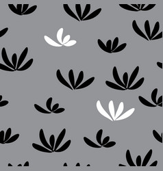 Seamless pattern with abstract black and white vector