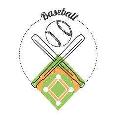 set concept icon baseball sport vector image