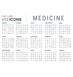 Set line icons medicine vector