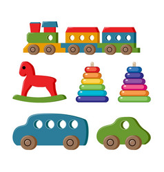 set toys for kids vector image