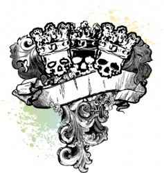 skull kings banner vector image