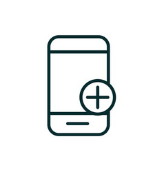 smartphone application emergency equipment medical vector image