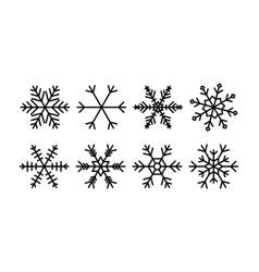 snowflakes set christmas snowflake vector image