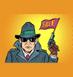 spy secret agent start sales vector image
