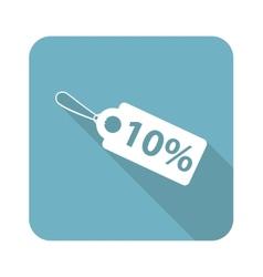 Square discount icon vector image