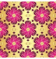 Vintage golden seamless pattern vector image
