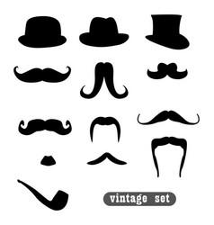 vintage set vector image