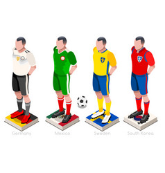 World cup football team vector