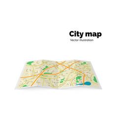 city map streets avenue buildings parks vector image