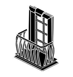 retro balcony icon simple style vector image