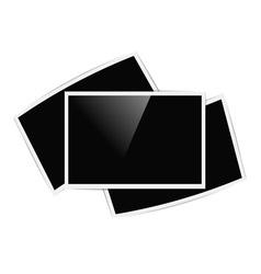 retro horizontal photo frames vector image